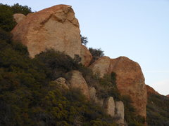 Rock Climbing Photo: The Lookout from the west. The lower formation on ...