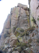 Rock Climbing Photo: The overhanging hand crack on the north face of Fr...