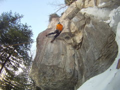 "Rock Climbing Photo: Moving through the crux on ""Pink Fun House&qu..."