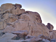 Rock Climbing Photo: Geronimo bat hang