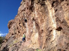 Rock Climbing Photo: Linda Wong laybacking and gastoning for all she's ...