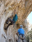 Rock Climbing Photo: Start of the route which is just right of a sectio...