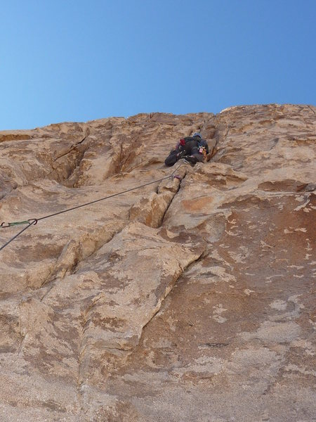 Rock Climbing Photo: Me Leading Frosty Cone with Frank Belaying me