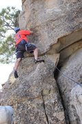 Rock Climbing Photo: Me on eight second ride with Frank belaying me...M...