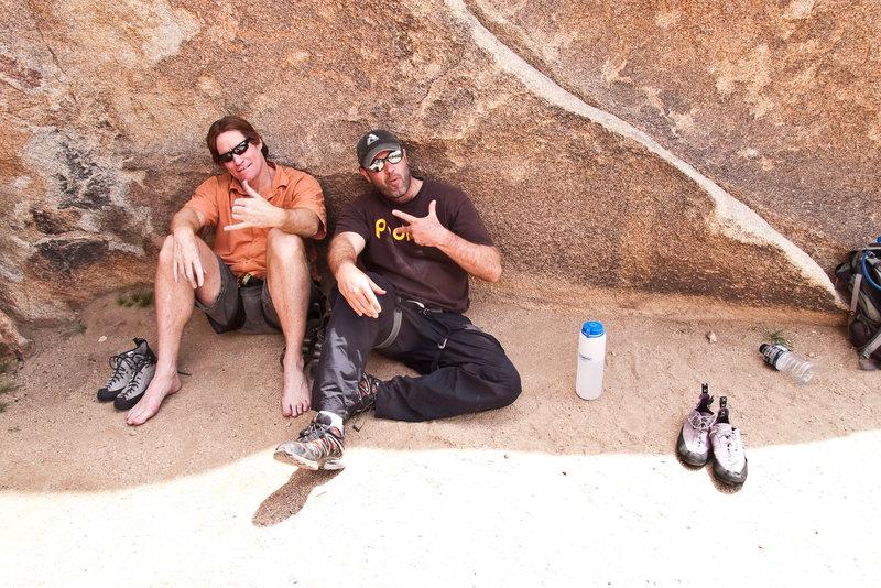 Rock Climbing Photo: Me and Arthur at Trashcan(two San Diego Bums) Apri...