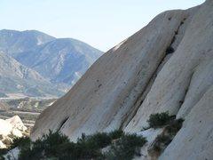 Rock Climbing Photo: The left side of Mormon Slab, Mormon Rocks