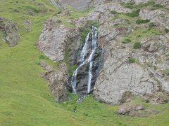 Rock Climbing Photo: The Upper Kegeti Waterfall in Summer