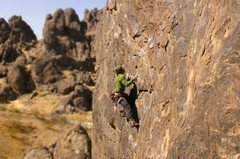 Rock Climbing Photo: Me on Dr. Know. This route was way awkward