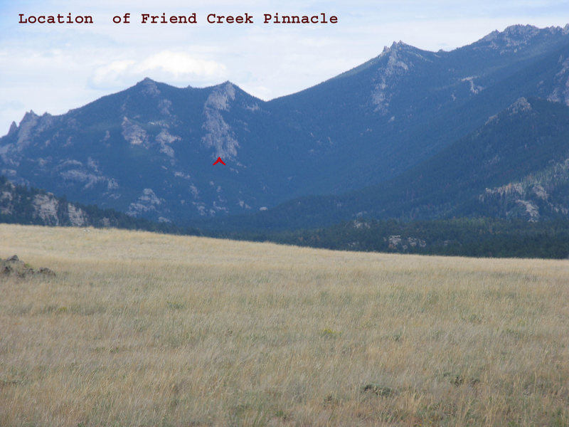 Rock Climbing Photo: Friend Creek Pinnacle location on West side of Fri...