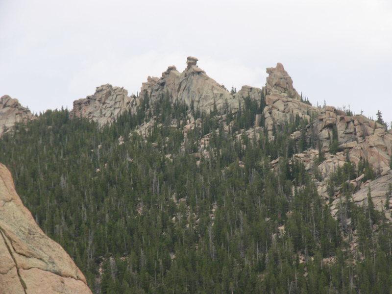 Rock Climbing Photo: The Minarets of Whacky Ridge as seen looking NE of...