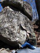 "Rock Climbing Photo: Vanessa on the start to ""Rotator Buff"" o..."