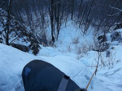 Rock Climbing Photo: Half way up Tweedle Dum