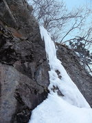 Rock Climbing Photo: The junky ice at the top which I knocked down to g...