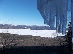 Rock Climbing Photo: View from half way up climb