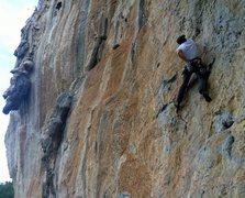 Rock Climbing Photo: Pitch 3 of Chicken Run at La Costenera. 12a/7a+