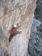 Rock Climbing Photo: Jesse Schultz starting the crux on this pretty fac...