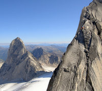 Rock Climbing Photo: Approaching the summite of Pigeon Spire.