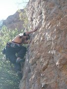 "Rock Climbing Photo: Nice crimper at second bolt of ""Oolong"""