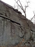 Rock Climbing Photo: The far right end of the Main Wall: Kinesiology cr...