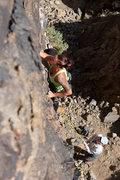 Rock Climbing Photo: Lead climbing Jug Haul