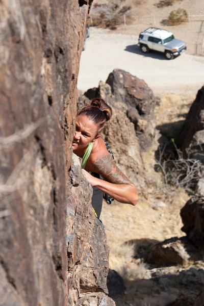 Lead climbing Jug Haul