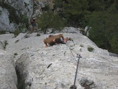 Rock Climbing Photo: Looking down Moby Dick at Settore della Torre