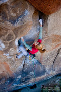 "Rock Climbing Photo: Leah Sandvoss sending ""Leave it to Beaver&quo..."