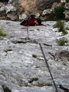 Rock Climbing Photo: Steep, bucket start of Miguel at Settore della Tor...