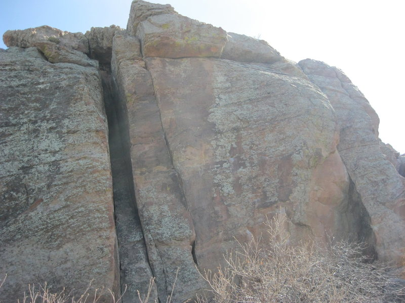 Rock Climbing Photo: Bolt Wall (right) and Bolt Wall Chimney. Bumbly Wa...