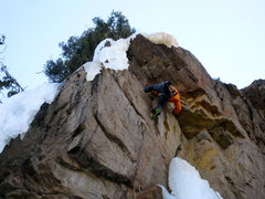 Rock Climbing Photo: I removed a couple super loose blocks at the top. ...