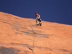 Rock Climbing Photo: Aerili thinks it must be Ultrawoman on some days.