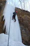 Rock Climbing Photo: Hidden ice