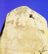 Rock Climbing Photo: Dan Goodwin on Equinox (5.12c), Joshua Tree NP  Ph...