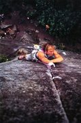 Rock Climbing Photo: Todd Skinner on City Park (5.13d), Index Town Wall...