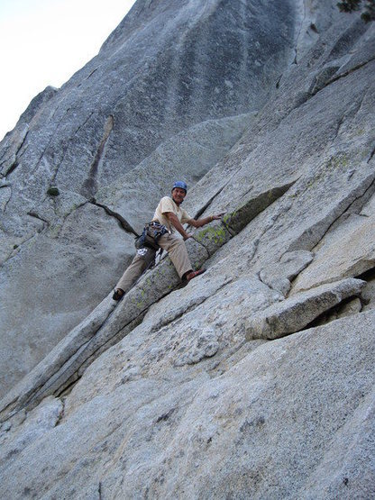 "Me leading ""yours"" Suicide rock North wall"