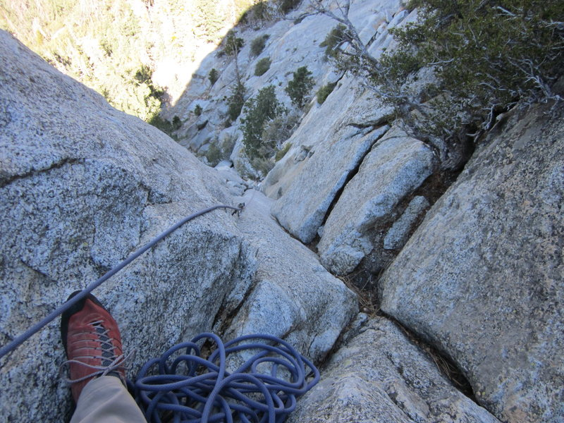 Rock Climbing Photo: Leading 3rd pitch of Angels Fright, Taquitz
