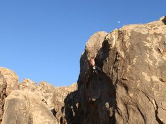 Rock Climbing Photo: Cody sticks the jug on his last attempt of the day...