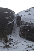 Rock Climbing Photo: Looking up Trap Dike from the middle of Avalanche ...