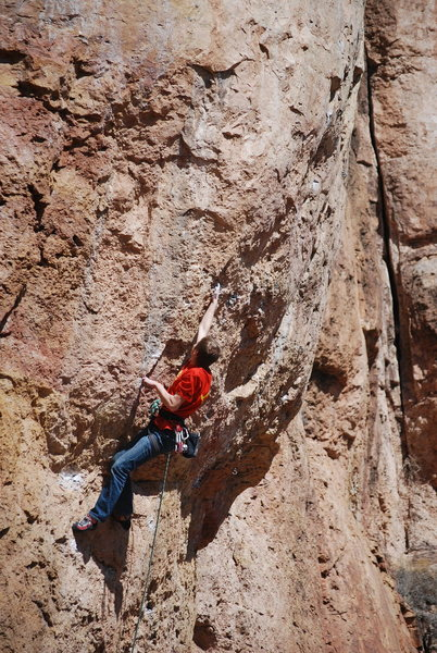 Rock Climbing Photo: Entering the crux sequence.