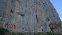 Rock Climbing Photo: Anne on 'Machoire d'ane'