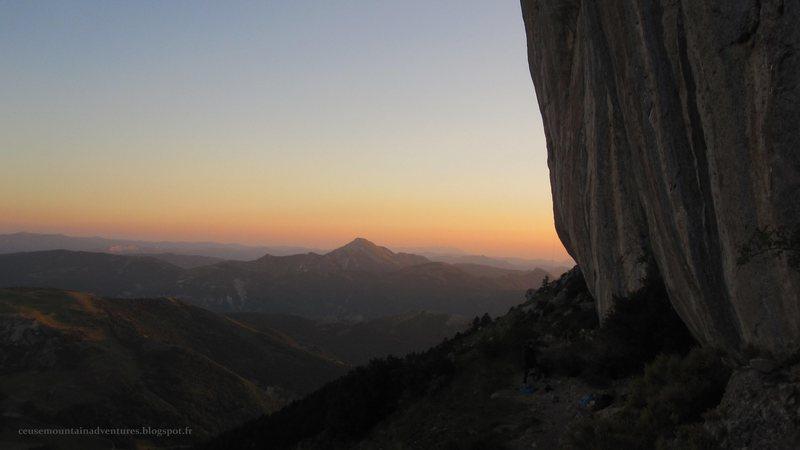 Rock Climbing Photo: Sunset on a summer night