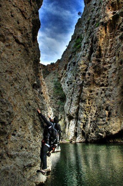 Rock Climbing Photo: malibu creek traverse