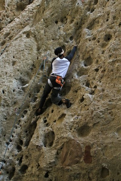 Rock Climbing Photo: johnny on 'johnny can't lead'