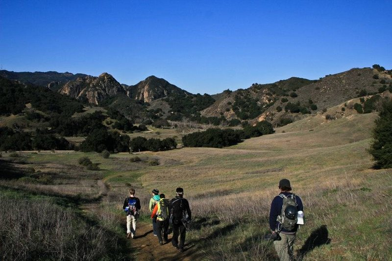 Rock Climbing Photo: malibu creek approach