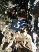Rock Climbing Photo: [Tree Slab Dyno].