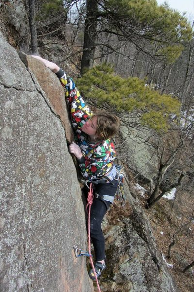 Rock Climbing Photo: lily slapping for the finish