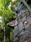 Rock Climbing Photo: Stewart Korte of the HWDAMF on Moon Beam  photo by...
