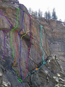 Rock Climbing Photo: Updated topos for the routes on the right side of ...