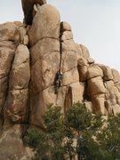 Rock Climbing Photo: Mark Collar leading through the upper fist crack o...