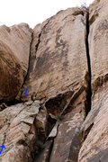 Rock Climbing Photo: Top portion of The Ugly Sister 5.8. The route star...